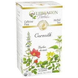 Celebration Herbals Organic Cornsilk Tea Caffeine Free - 24 Herbal Tea Bags