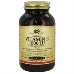 Solgar Vitamin E - 1000 IU - 100 Softgels