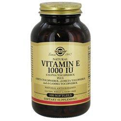 Solgar Vitamin E - 1000 IU - 100 Softgels