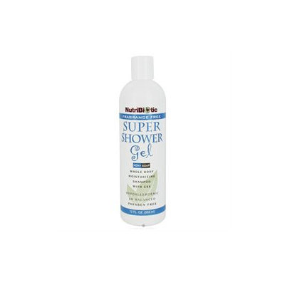 NutriBiotic Super Shower Gel Fragrance Free - 12 fl oz - Vegan
