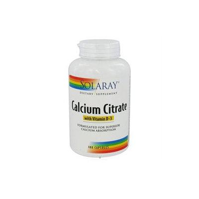 Solaray Calcium Citrate with Vitamin D-3 - 180 Capsules