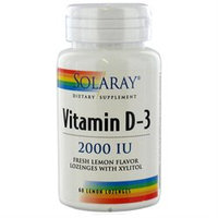 Solaray Vitamin D-3 Lemon - 2000 IU - 60 Lozenges