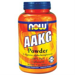 NOW Foods - AAKG Powder 100 Pure Unflavored - 7 oz.