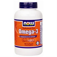 NOW Foods - Omega-3 Cholesterol Free - 180 Softgels