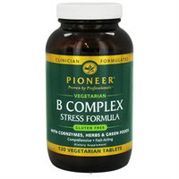 Pioneer - B Complex Stress Formula with Coenzymes Herbs & Green Foods - 120 Vegetarian Tablets
