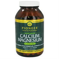 Pioneer Vegetarian Calcium Magnesium - 180 Vegetarian Capsules