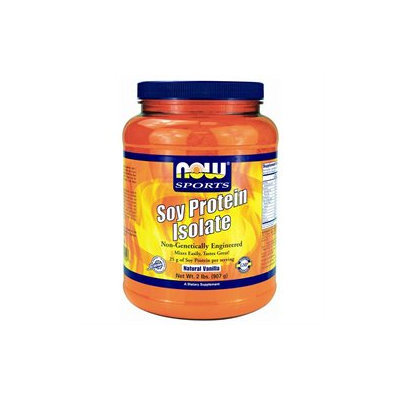 NOW Foods - Soy Protein Isolate Non-Genetically Engineered Natural Vanilla - 2 lbs.