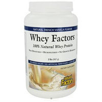 tural Factors 100% Natural Whey Protein - Whey Factors French Vanilla 2 lbs