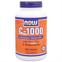 NOW Foods - Vitamin C-1000 with Rose Hips - 250 Tablets