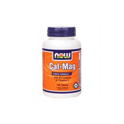 NOW Foods - Calcium-Magnesium Stress Formula with B-Complex and Vitamin C - 100 Tablets
