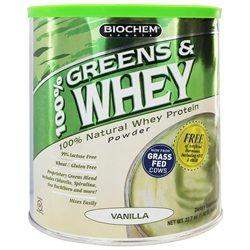 Biochem Sports 100% Greens & Whey Powder - Vanilla 1.42 Lb