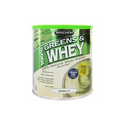 Biochem Sports 100% Greens & Whey Powder - Vanilla 1.42 Lb