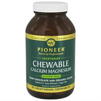 Pioneer - Chewable Calcium Magnesium Dark Chocolate Flavor - 90 Chewables