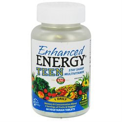 Kal - Enhanced Energy Teen Complete - 60 Vegetarian Tablets