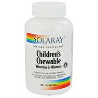 Solaray Children's Chewable Vitamins and Minerals Natural Black-Cherry - 120 Chewables