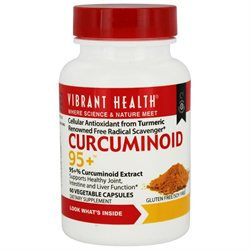 Vibrant Health Curcuminoids 95+, Vegicaps, 60 ea