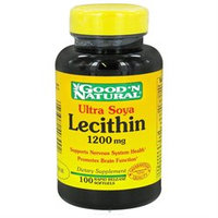 Good 'N Natural - Ultra Soya Lecithin 1200 mg. - 100 Softgels Formerly 19 grain