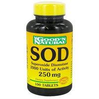 Good 'N Natural - SOD Superoxide Dismutase 2000 Units of Activity 250 mg. - 100 Tablets