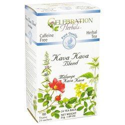 Celebration Herbals Kava Kava Blend Tea Caffeine Free - 24 Herbal Tea Bags
