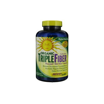 Renew Life Organic Triple Fiber - 150 Vegetable Capsules