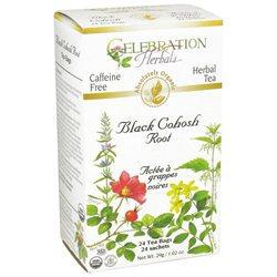 Celebration Herbals Organic Black Cohosh Root Caffeine Free - 24 Herbal Tea Bags