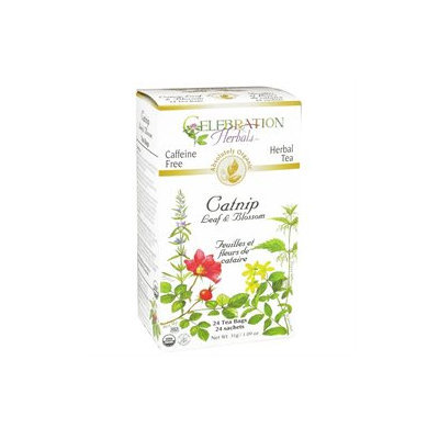 Celebration Herbals Organic Catnip Leaf and Blossom Tea Caffeine Free - 24 Herbal Tea Bags