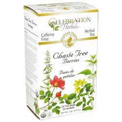 Celebration Herbals Organic Chaste Tree Berries Tea Caffeine Free - 24 Herbal Tea Bags