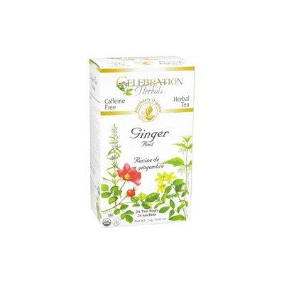 Celebration Herbals Organic Ginger Root Tea Caffeine Free - 24 Herbal Tea Bags
