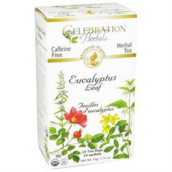 Celebration Herbals Organic Eucalyptus Leaf Tea Caffeine Free - 24 Herbal Tea Bags