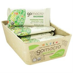 GoMacro - MacroBar Wholehearted Heaven Almond Butter & Carob - 2 oz.