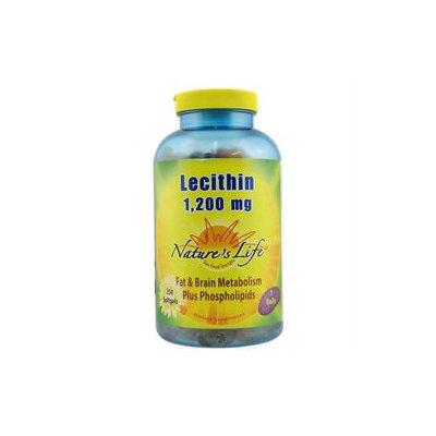 Nature's Life Lecithin - 1.2 g - 250 Softgels