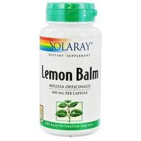 Solaray - Lemon Balm 400 mg. - 100 Capsules