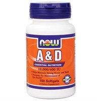 NOW Foods - Vitamin A & D Fish Liver Oil - 100 Softgels
