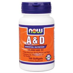 NOW Foods - Vitamin A & D Fish Liver Oil - 100 Softgels