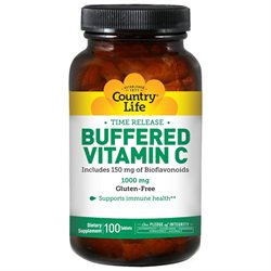 Country Life Buffered Vitamin C - 1000 mg - 100 Tablets