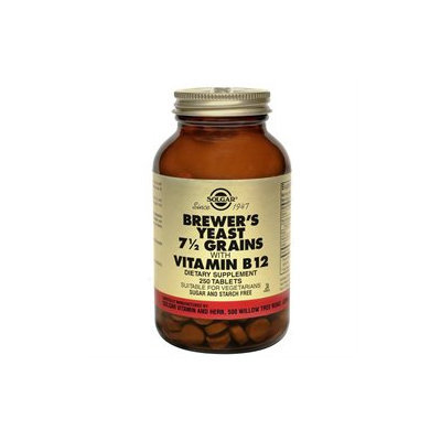Solgar Brewer's Yeast Grains with Vitamin B12 - 250 Tablets