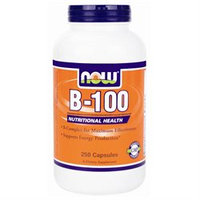 NOW Foods Vitamin B-100 Complex, Capsules, 250 ea