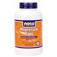 NOW Foods Magnesium, 400mg, Capsules, 180 ea