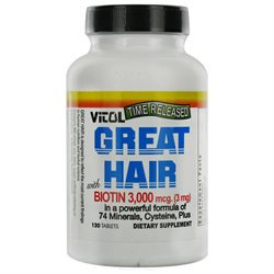 Vitol Products Great Hair 3000 MG - 120 Tablets - Other Supplements
