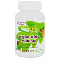 VegLife - Vegan Kids Multiple Berry - 60 Chewable Tablets