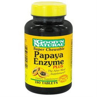 Good 'N Natural - Chewable Enzyme Plus Super Papaya - 180 Tablets