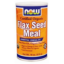 Now Foods, Organic Flax Seed Meal 22 oz