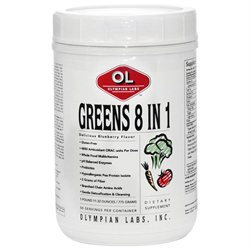 Olympian Labs Greens 8 in 1 Blueberry - 775 g