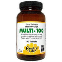Country Life - Multi-100 High Potency Time Release - 90 Tablets