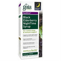 Gaia Herbs Rapid Relief Black Elderberry NightTime Syrup