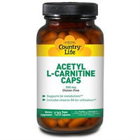 Country Life Acetyl L-Carnitine Caps - 500 mg - 120 Vegetarian Capsules
