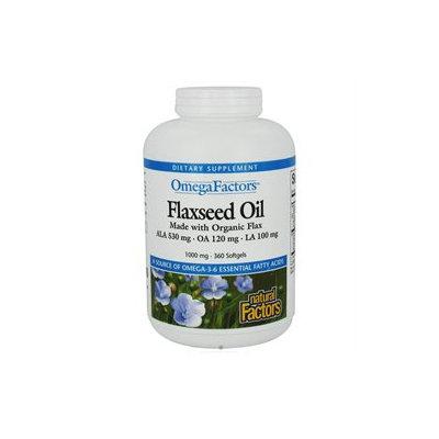 Natural Factors - OmegaFactors Flaxseed Oil Organic 1000 mg. - 360 Softgels