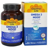 Country Life Omega 3 Mood, Softgels, 90 ea