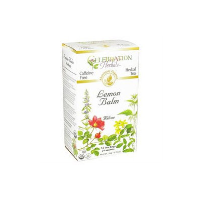 Celebration Herbals Organic Lemon Balm Tea Caffeine Free - 24 Herbal Tea Bags