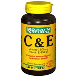 Good 'N Natural - C & E Vitamin C 500 Mg/Vitamin E 400 IU - 100 Softgels